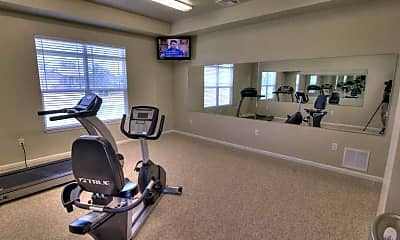 Fitness Weight Room, The Reserves at Prairie Ridge Apartment Complex, 2
