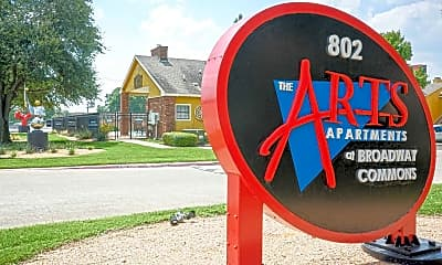 Community Signage, The Arts Apartments at Broadway Commons I & II, 1