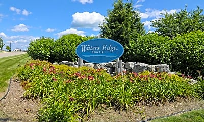 Community Signage, Waters Edge Apartments, 1