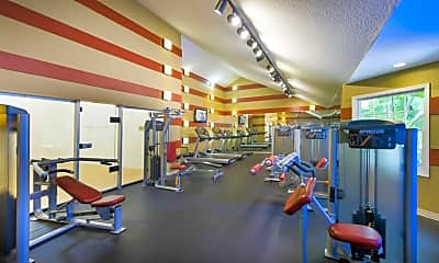 Fitness Weight Room, Arbors at Lee Vista, 1