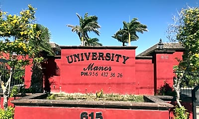 University Manor Apartments, 1