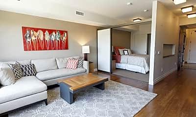 Living Room, My Block Wash Park Apartments, 1