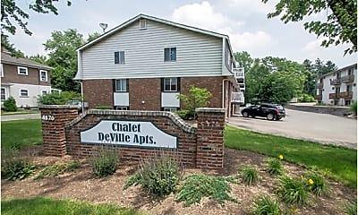 Community Signage, Chalet DeVille Apartments, 1