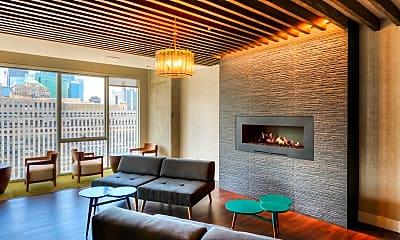 Living Room, 220 W Illinois St 1603, 2