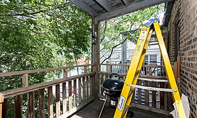 Patio / Deck, 1122 W Addison St. 3, 2