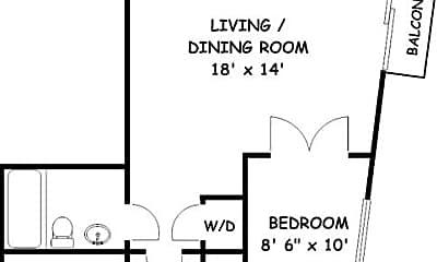 Bathroom, 1320 13th St NW, 2