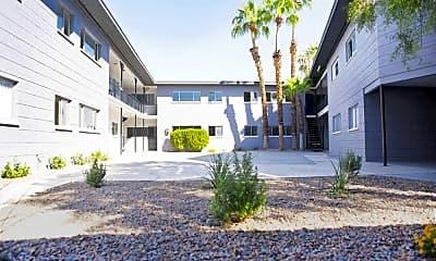 Courtyard, Sherwood Apartments, 0