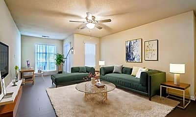 Living Room, Riverstock Apartments, 1