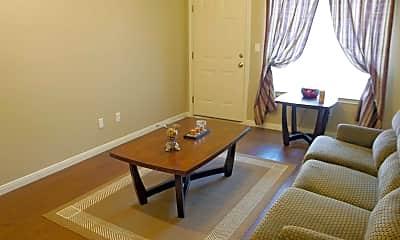 Living Room, Garden Hill Apartments, 1