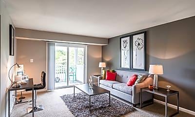 Living Room, Green Acres Apartments, 1
