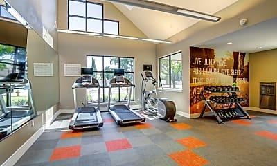 Fitness Weight Room, Avana San Jose, 1