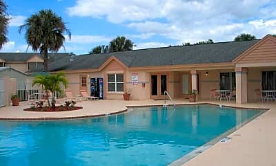 Pool, Coral Palms Apartments, 1