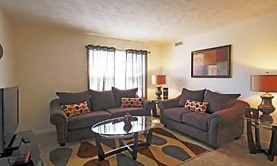 Living Room, Riverlands Apartments, 1