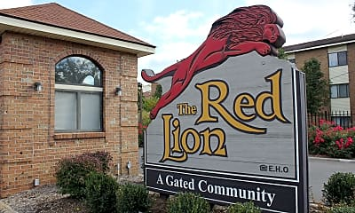 Community Signage, Red Lion Apartments, 1