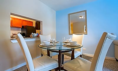 Dining Room, Oak Park City Apartments, 1
