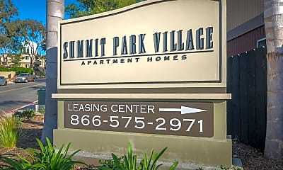 Community Signage, Summit Park Village, 1
