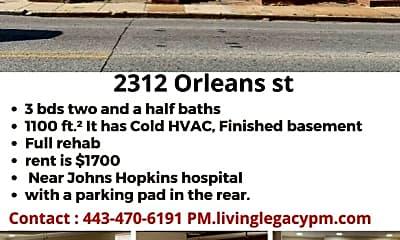 Building, 2312 Orleans St, 2