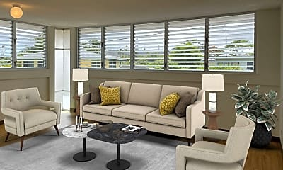 Living Room, 48 Maluniu Ave, 1