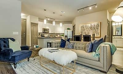 Living Room, Memorial West Apartments, 1