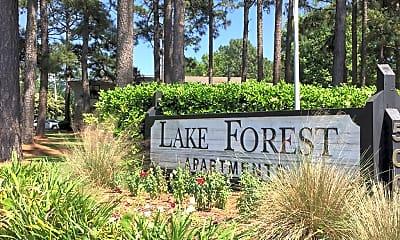 Community Signage, Lake Forest Apartments, 0