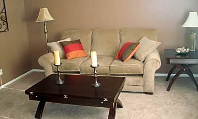 Living Room, Bluestem Apartments, 0