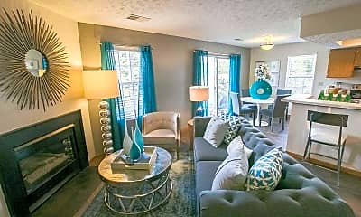 Living Room, Perimeter Lakes Apartments, 1
