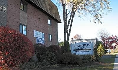 Community Signage, Campus View Apartments, 1