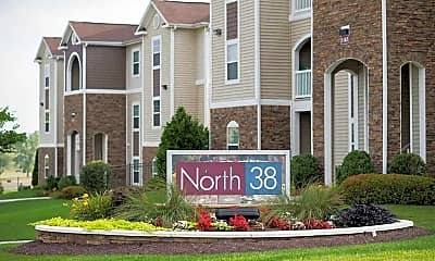 Community Signage, North 38 Student Housing, 1