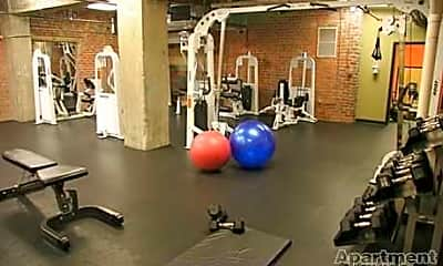 Fitness Weight Room, Shockoe Center Apartments, 1