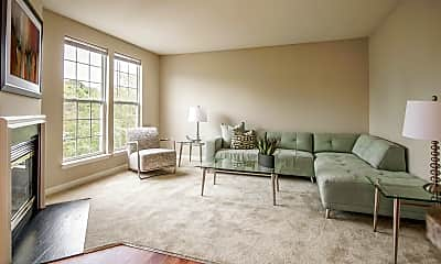 Living Room, Townes At Harvest View, 2