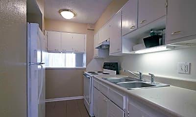 Kitchen, Town Square Apartments, 0