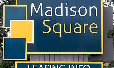 Community Signage, Madison Square, 2