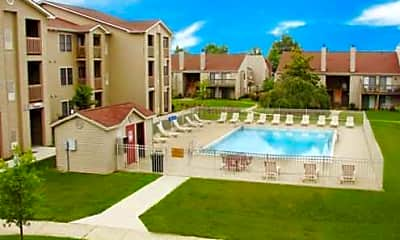 Pool, Park Hill Apartments, 0