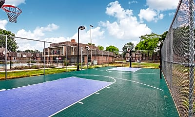 Basketball Court, Louisburg Square Apartments & Townhomes, 2