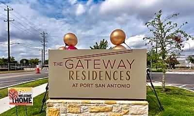 Community Signage, The Gateway Residences at Port San Antonio, 2