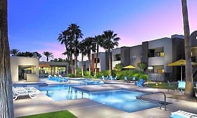 Pool, Helix Apartments, 0