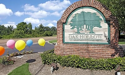 Community Signage, Oak Hollow, 2