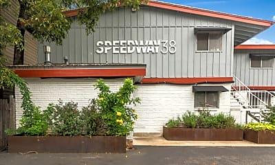 Building, Speedway 38, 2