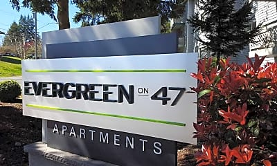 Community Signage, Evergreen on 47th, 1