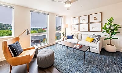 Living Room, Muir Apartments, 1