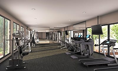 Fitness Weight Room, Tribeca Apartments, 1