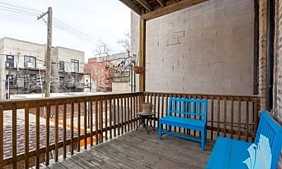 Patio / Deck, 1635 N Ashland 3, 2