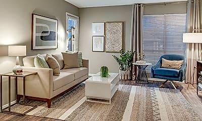 Living Room, Towne Oaks South, 0