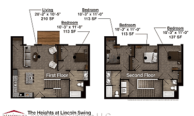 Bedroom, 4124 Lincoln Swing, 2