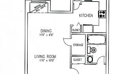 Stoney Hill One Bedroom Apartment.jpg, 500 Stoney Hill Ct., 2