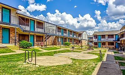 Courtyard, Cook's Creek Apartments, 0