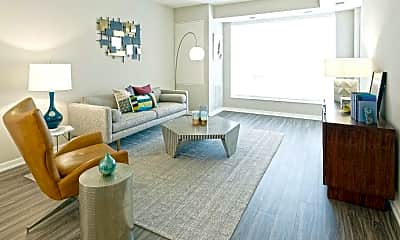 Living Room, Oxbo Apartments, 1