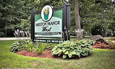 Community Signage, Briston Manor West: 55+ Senior Living, 0