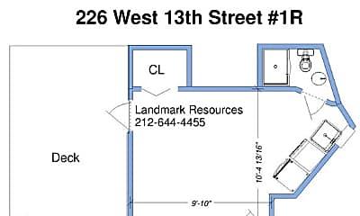 Bathroom, 226 W 13th St, 2