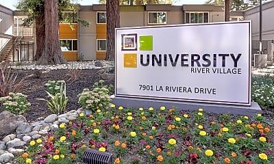 Community Signage, University River Village, 2